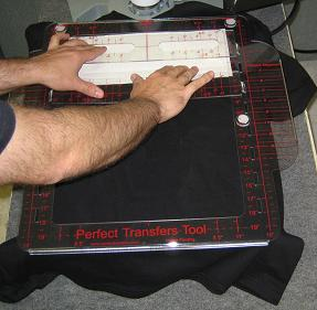 Top Center Design Alignment Instructions for Heat Press